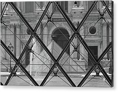 The Louvre From The Inside Acrylic Print