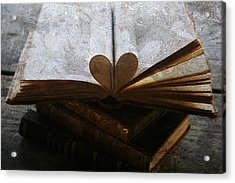 The Love Of A Book Acrylic Print by Georgia Fowler