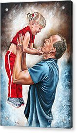 The Love Of The Father Acrylic Print by Ilse Kleyn