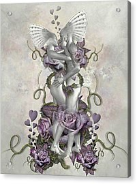 The Love Of The Two Souls Acrylic Print by Ali Oppy