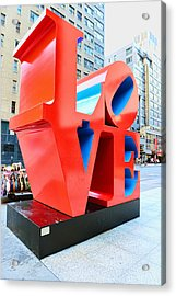 The Love Sculpture Acrylic Print by Paul Ward
