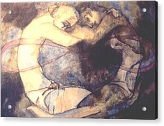 The Lovers Acrylic Print by Erika Brown