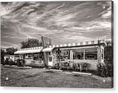 The Lucky Dog Diner At Sunset - 2 Acrylic Print by Frank J Benz
