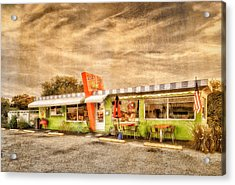 The Lucky Dog Diner At Sunset - 3 Acrylic Print by Frank J Benz