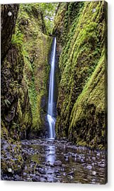 Acrylic Print featuring the photograph The Lush And Green Lower Oneonta Falls by Pierre Leclerc Photography