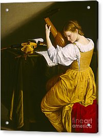 The Lute Player  Acrylic Print by Celestial Images