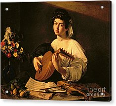 The Lute Player Acrylic Print by Michelangelo Merisi da Caravaggio