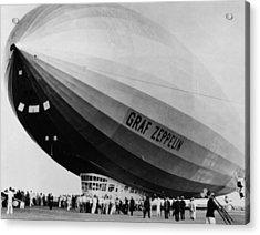 The Lz 129 Graf Zeppelin, Making Acrylic Print by Everett