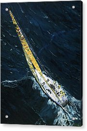 The Mac. Chicago To Mackinac Sailboat Race. Acrylic Print by Gregory Allen Page