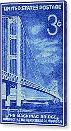 The Mackinac Bridge Stamp Acrylic Print by Lanjee Chee