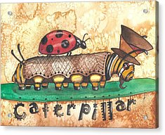 The Mad Caterpillar Acrylic Print by Sheri Athwal