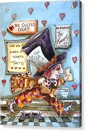 The Mad Hatter - In Court Acrylic Print by Lucia Stewart