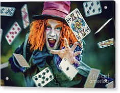 Acrylic Print featuring the photograph The Mad Hatter Alice In Wonderland by Dimitar Hristov