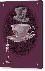 The Mad Teacup - Rose Acrylic Print