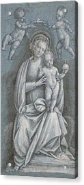 The Madonna And Child Crowned By Two Angels Acrylic Print