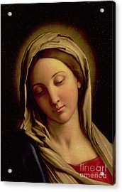 The Madonna Acrylic Print by Il Sassoferrato