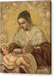 The Madonna Of The Stars Acrylic Print
