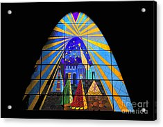 The Magi In Stained Glass - Giron Ecuador Acrylic Print by Al Bourassa