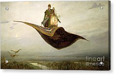 The Magic Carpet Acrylic Print by Apollinari Mikhailovich Vasnetsov