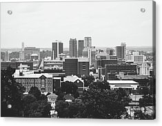 Acrylic Print featuring the photograph The Magic City In Monochrome by Shelby Young