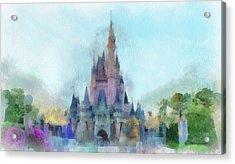 The Magic Kingdom Castle Wdw 05 Photo Art Acrylic Print