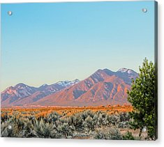 The Magic Light Of Taos  Acrylic Print by Charles Muhle