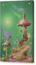 The Mushroom Gatherer Acrylic Print