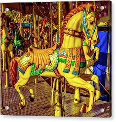 The Magic Of A Carrousel Horse Acrylic Print