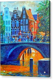 The Magic Of Amsterdam Acrylic Print by Michael Durst