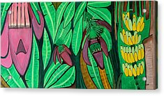 Acrylic Print featuring the painting The Magic Of Banana Blossoms by Lorna Maza