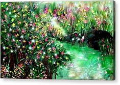 Acrylic Print featuring the painting The Magical Garden by Sherri  Of Palm Springs