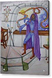 The Magician Acrylic Print by Carol Frances Arthur