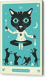 The Magician Tarot Card Cat Acrylic Print