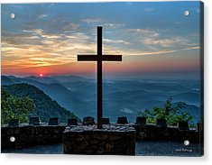 The Magnificent Cross Pretty Place Chapel Greenville Sc Great Smoky Mountains Art Acrylic Print