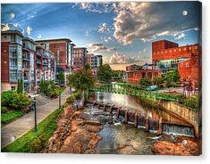 The Main Attraction Reedy River Greenville South Carolina Art Acrylic Print