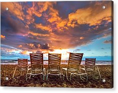 The Main Event Acrylic Print by Debra and Dave Vanderlaan