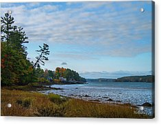 The Maine Coast Near Edgecomb  Acrylic Print