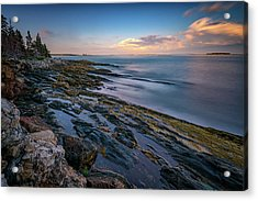 The Maine Coast Acrylic Print by Rick Berk