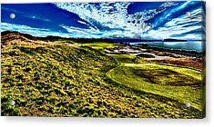 The Majestic Hole #16 At Chambers Bay Acrylic Print by David Patterson