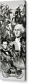 The Making Of America Montage Acrylic Print by Angus McBride
