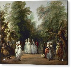 The Mall In Saint James's Park Acrylic Print by Thomas Gainsborough