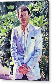 The Man In Blue Acrylic Print