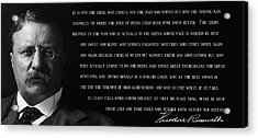 The Man In The Arena - Teddy Roosevelt 1910 Acrylic Print