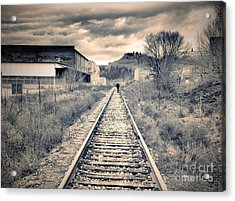 The Man On The Tracks Acrylic Print