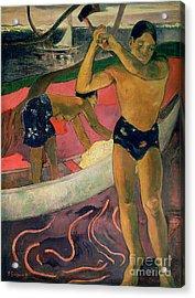 The Man With An Axe Acrylic Print by Paul Gauguin
