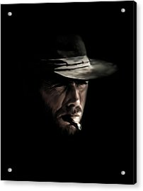 The Man With No Name Acrylic Print by Laurence Adamson