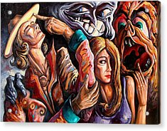 The Manipulation From The Anti-consciousness Monsters Acrylic Print by Darwin Leon
