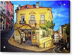 The Many Colors Of Lisbon Old Town  Acrylic Print by Carol Japp