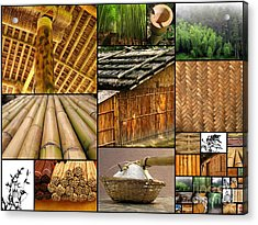 The Many Faces Of Bamboo Acrylic Print by Yali Shi
