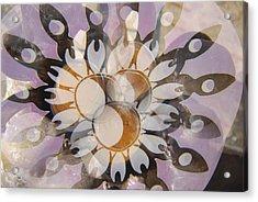 The Many Goddess Mandala Acrylic Print by Sean-Michael Gettys